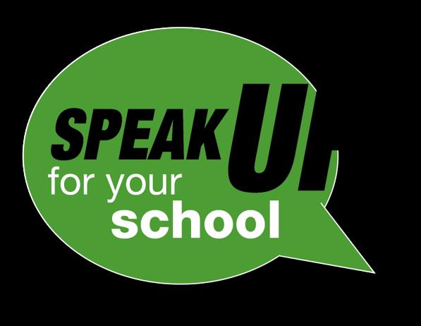 Speak up for your school speech bubble