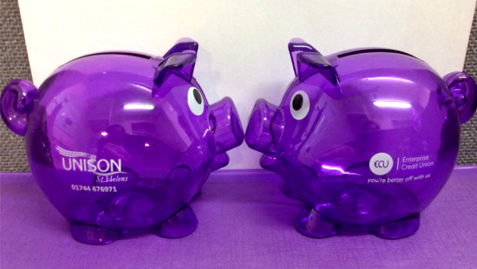 Picture of 2 piggy banks